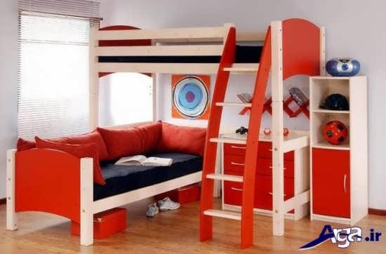 طراحی شیک تخت خواب کودک با نردبان