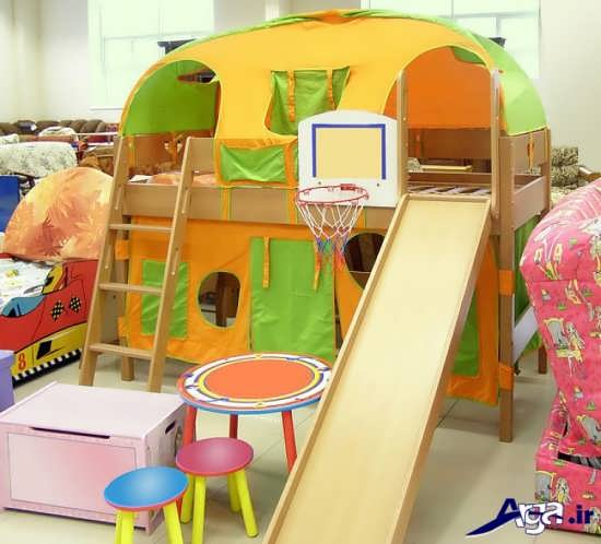 مدل تخت خواب فانتزی دو طبقه کودکان