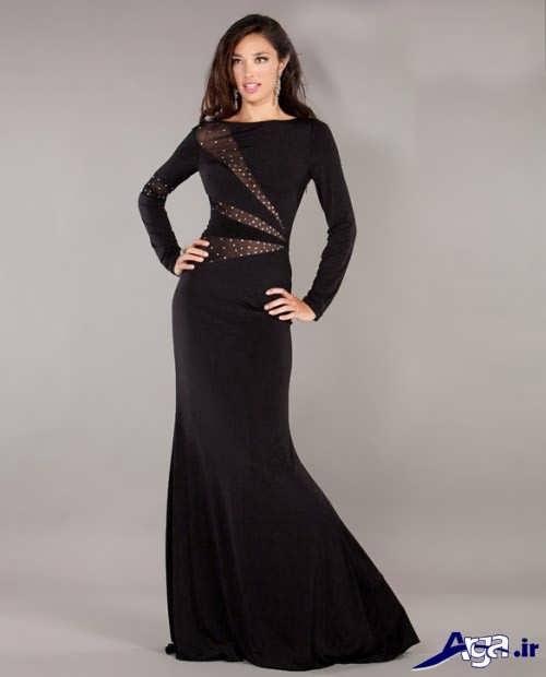 مدل لباس مجلسی آستین بلند