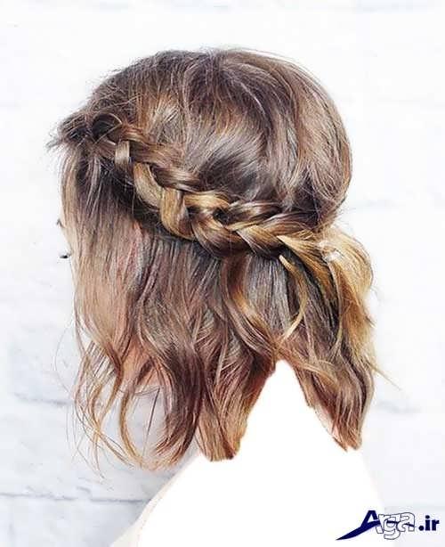 مدل موی باز به همراه بافت تزیینی