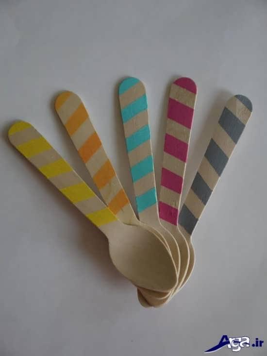 انواع نقاشی شیک و زبا بر روی چوب بستنی