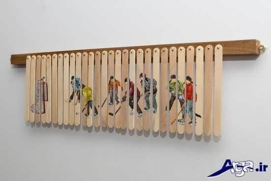 انواع تابلو نقاشی روی چوب بستنی و کیم