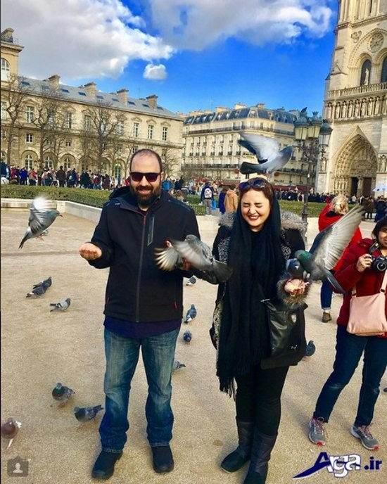 عکس نرگس محمدی و همسرش