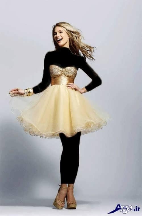 مدل لباس پرنسسی کوتاه برای نامزدی