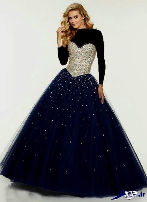 مدل لباس پرنسسی کار شده