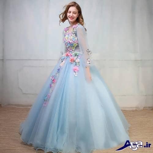 مدل لباس نامزدی پرنسسی با طرح جدید