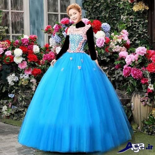 مدل لباس پرنسسی نامزدی شیک