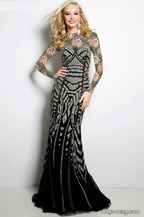 مدل لباس شب ریون زیبا