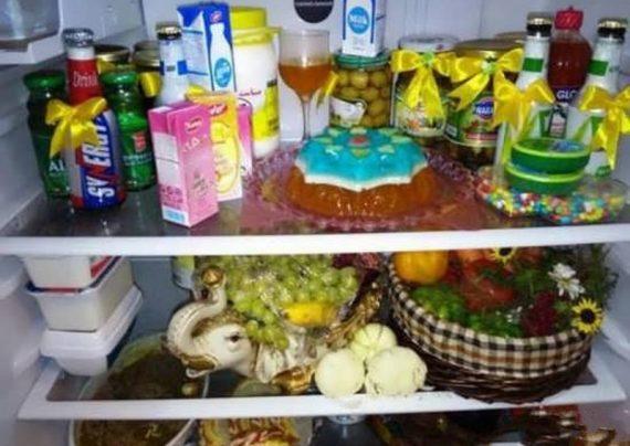 تزیین وسایل یخچال عروس