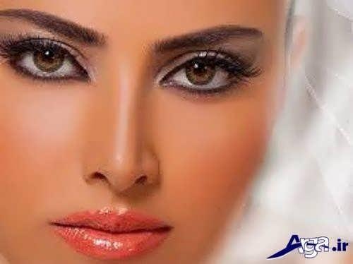 مدل آرایش صورت گرد برای عروس