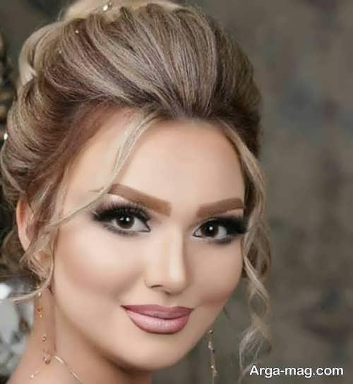 مدل آرایش صورت گرد عروس