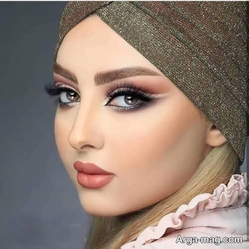 مدل آرایش صورت گرد ملایم