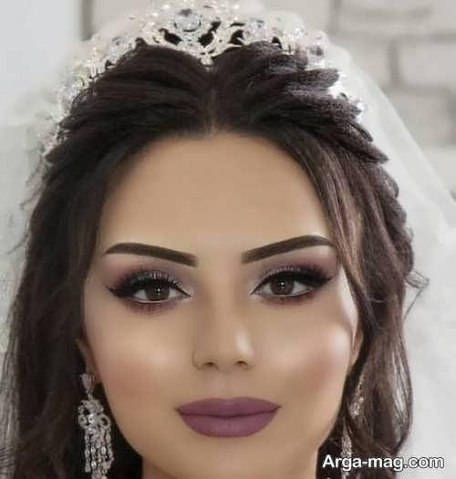 مدل میکاپ چهره گرد برای عروس