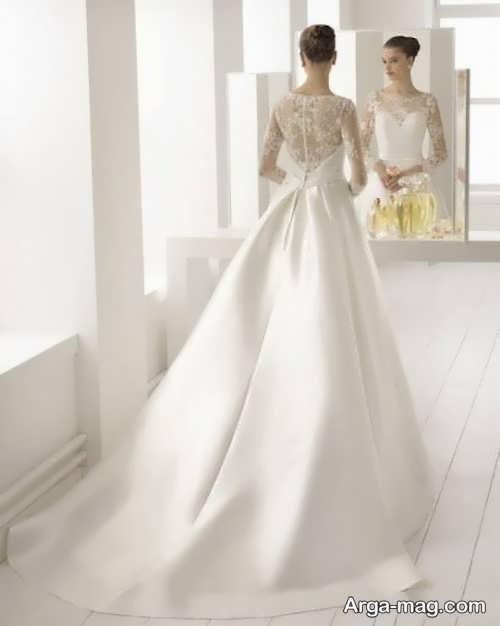 لباس عروسی ساتن پوشیده