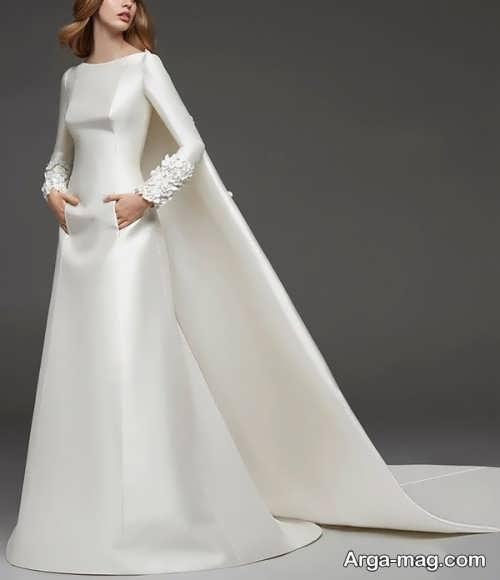 پیراهن عروس جذاب با جنس ساتن