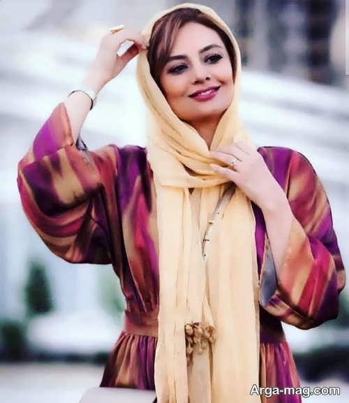 مدل بستن شال یکتا ناصر