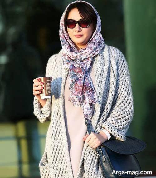 مدل بستن شال هانیه توسلی