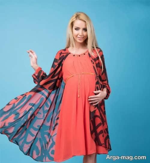 انواع پیراهن بارداری حریر
