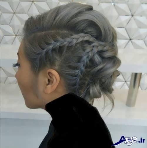 مدل شینیون ساده همراه با بافت مو