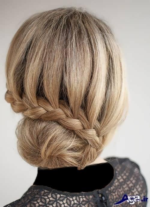 مدل آرایش موی ساده همراه با بافت مو