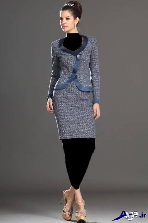 مدل کت و دامن طرح دار زنانه