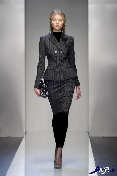 کت و دامن دخترانه طرح دار
