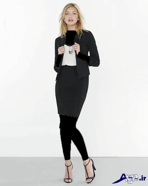 کت و دامن دخترانه ساده