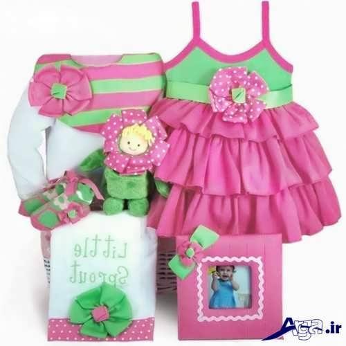 تزیین لباس نوزاد دختر