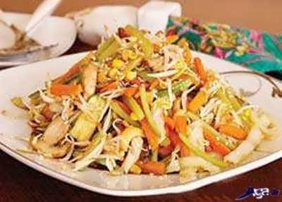 خوراک سبزیجات خوشمزه و مغذی