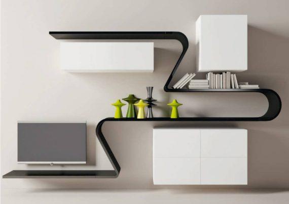 مدل قفسه دیواری شیک و مدرن