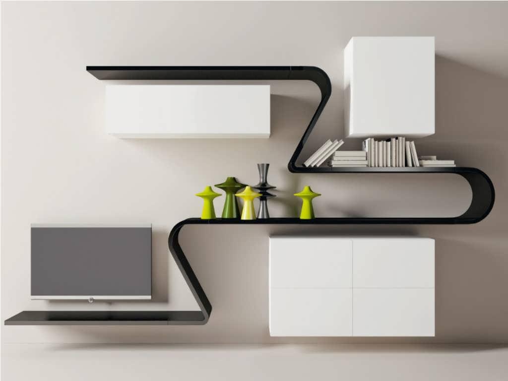 مدل قفسه دیواری جدید و شیک و انواع باکس دیواری مدرن