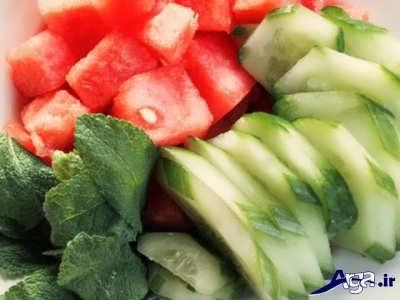 خاصیت هندوانه در آبرسانی به پوست