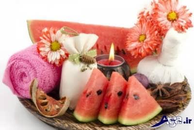 خاصیت روشن کنندگی هندوانه برای پوست