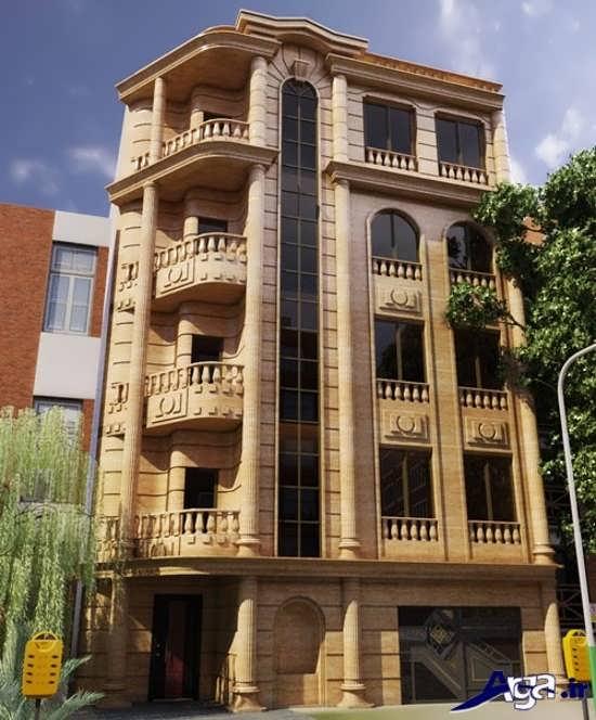نمای ساختمان چهار طبقه