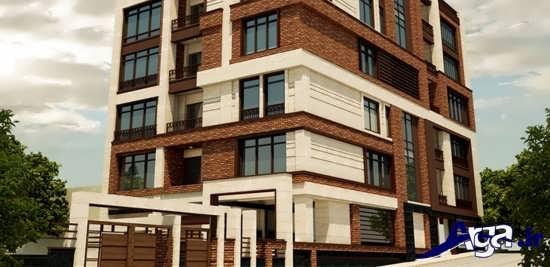 ساختمان چهار طبقه سنگ نما وآجر