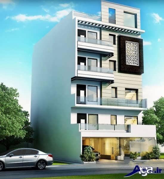 ساختمان چهار طبقه سفید رنگ