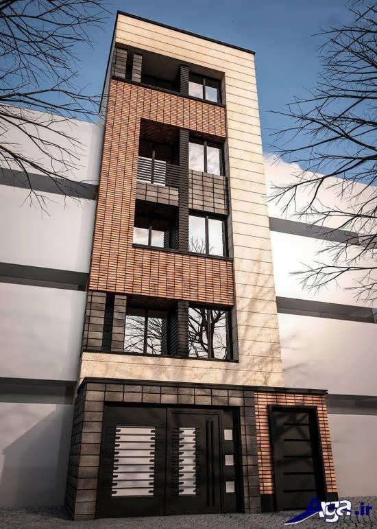 ساختمان چهار طبقه با نمای کامپوزیت
