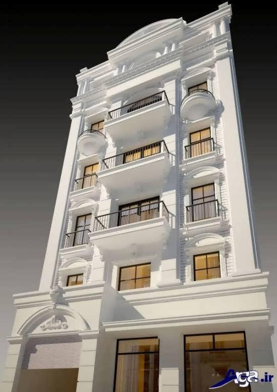 طراحی مدرن ساختمان چهار طبقه