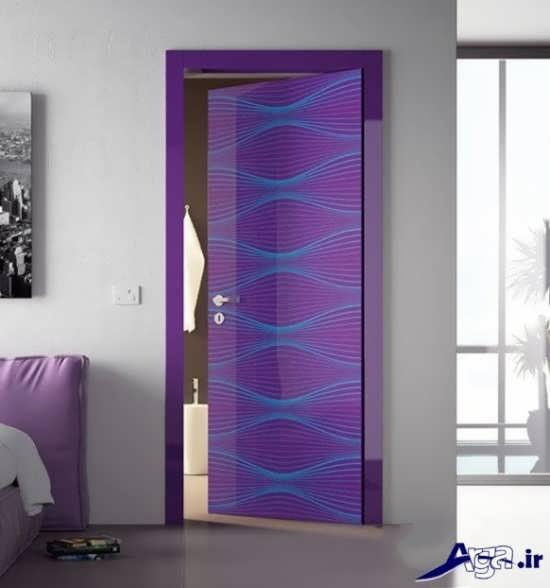 اتاق خواب با درب طرح دار