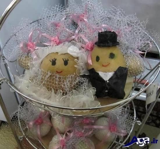 تزیین مواد غذایی و یخچالی عروسان به شکل عروس و داماد