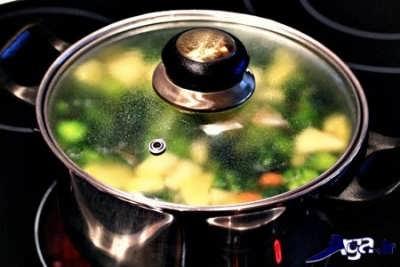 پخت مرحله به مرحله سوپ رژیمی