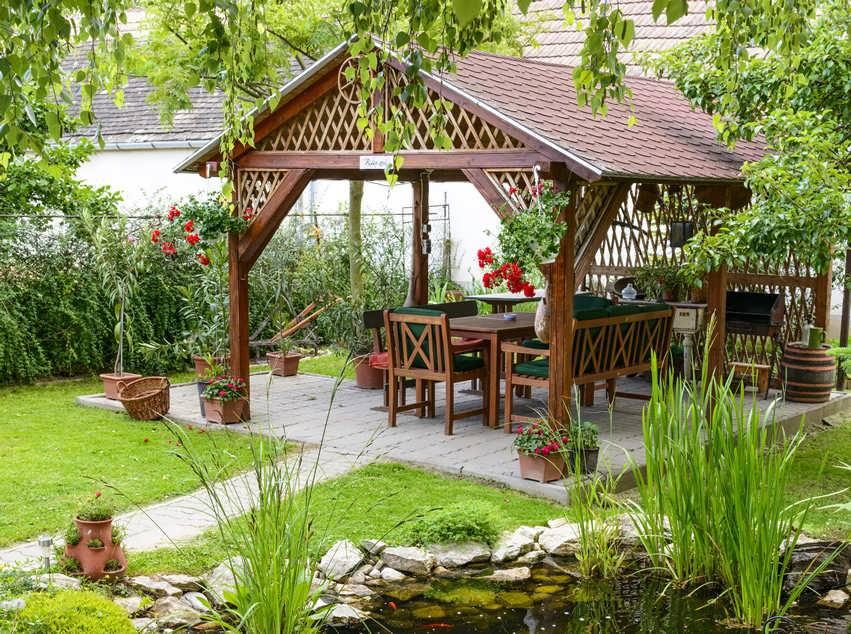 آلاچیق مدرن و جدید برای حیاط انواع واحد های مسکونی