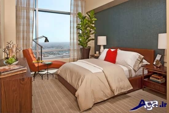 طراحی داخلی اتاق خواب با روتختی