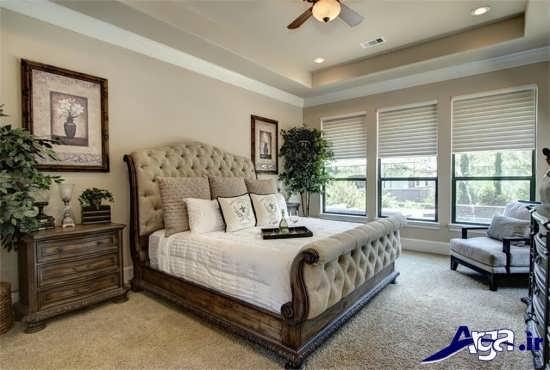 طراحی داخلی اتاق خواب با نمای زیبا