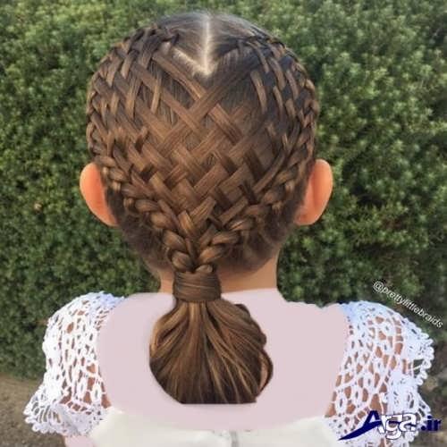 مدل بافت موی دخترانه حصیری