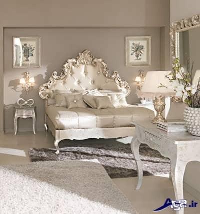 سرویس خواب سفید با تابلوهای زیبا