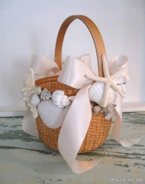 ایده های جذاب برای تزیین سبد با روبان برای عروس و داماد