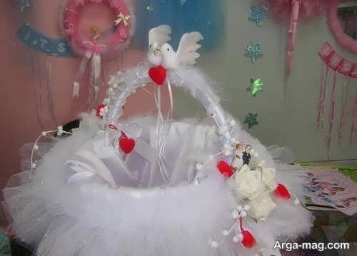 تزیین سبد با روبان برای عروسی