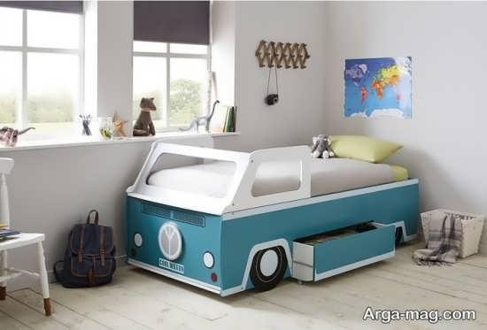 مدل تخت خواب ماشین کودک