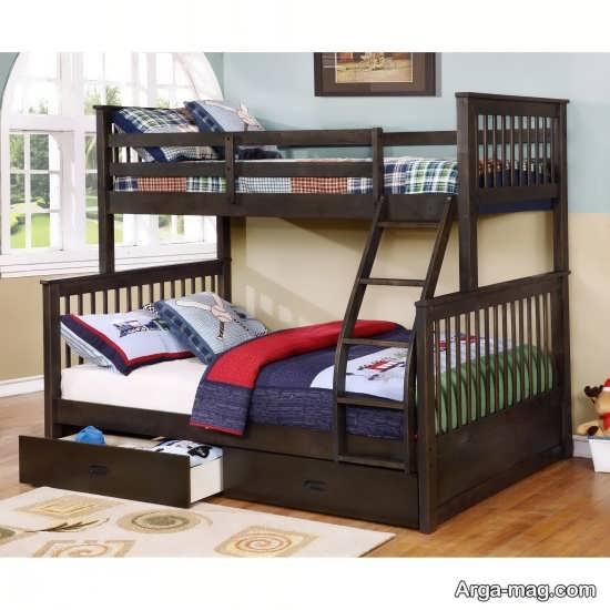 انواع تخت خواب پسرانه دو طبقه